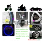 flash LED tyre light car & bicycle bike tyre wheel LED valve cap stem light including 3 batteries