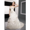 A-Line/ Strapless Cathedral train Satin  wedding dress for brides 2010 style(WDA00)y