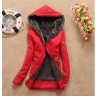 Free shipping autumn women hoodie thickening wool liner long-sleeve with a hood plus velvet wadded jacket loose sweatshirt