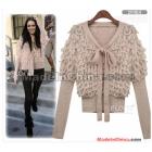 Women hand- Knitwear sweater bowknot winter clothing J052