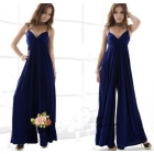 Free shipping 2013 fashion dress sexy beach dress V-neck strap dress wide leg Culottes 8105 women's western style dresses