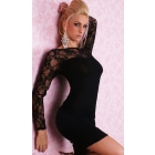 Best New Arrival Sexy clubwear dress Elastic woman's Sexy Lingerie Short Mini Dress with G-string Club Dress 043