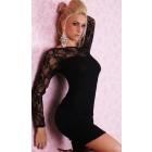 Best New Arrival Sexy clubwear dress Elastic woman's Sexy Lingerie Short Mini Dress with G-string Club Dress 043