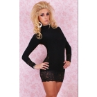Best New Arrival Sexy clubwear dress Elastic woman's Sexy Lingerie Short Mini Dress with G-string Club Dress 044
