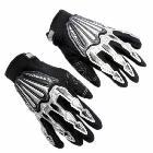 Scoyco Boy's Men's Leather Gantlet Motorcycle Biker Racer Gloves One Adult Size A008
