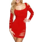 2013 New Arrival Sexy clubwear red dress Elastic woman's Sexy Lingerie Short Mini Dress with G-string Club Dress N074