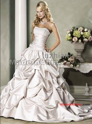 Yellow And Silver Wedding Dresses : Wedding dresses bridesmaid gown prom