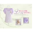 1638 han edition fashionable corsage, decorative lace stitching short sleeve chiffon unlined upper garment