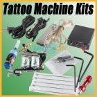 New Complete Tattoo Equipment Single Machine Gun Color Inks Power Supply Kits Free Shipping
