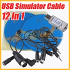 12 In 1 USB Simulator Cable /USB Dongle for RC Helicopter Airplane VRC Car Real Flight