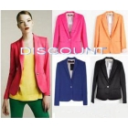 WOMAN SUIT BLAZER FOLDABLE SLEEVES COAT