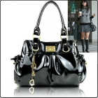 ladies' patent pu leather bags, casual handbag women, hotesale shoulder bags, tote bag W1243