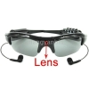 Wholesale --- Hot! New Easy 2 Button Control 2GB Sun Glasses Spy Camera + MP3, MP3 spy camera sunglasses