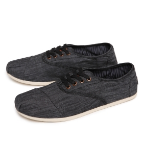 free shipping! men's fashion shoes, canvas shoes for men 2 colors black and brown 2 pairs/lot