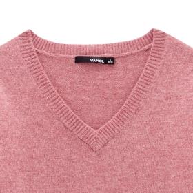 a76e535b32 VANCL V Neck Premium Wool Sweater s Coral SKU – Wholesale VANCL V ...
