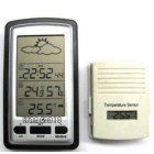 free shipping  LCD Wireless Weather Station Temperature Humidity Clock New  Hot!!