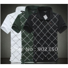 special offer ! free shipping 2012 men's  shirt short sleeve plaid t-shirt 100% cotton great quality 3 color M-XXL --9
