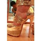 2012 sandals gold studded plat<7f310460d57a17c819816dc920dbb5> high heel pumps women glitter mirror heels spikes diamond red bottoms shoes