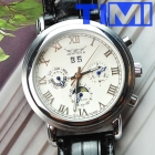 Luxury 6 Hands Automatic Mechanical Leather Mens Watch New hotsale