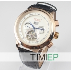 Man Luxury Elegant Gold Plated Case Auto Mechanical  Men's Wrist Watches Clock
