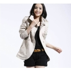 Women's coat winter noble short coat   and beige women's overcoat jackets Nepal