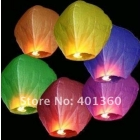 FREE SHIPPING Mulan'S 10pcs Mixed Color Shipping UFO Sky Wishing Lantern Chinese Lantern Wedding Xmas Halloween Lamp