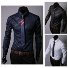 NWT Mens Luxury Casual Slim Fit Stylish Dress Shirts 3Color 5 Size