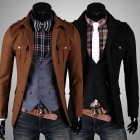 Men's UK Style High Quanlity Stylish Slim Woolen Trench Coat Windcoat Jacket