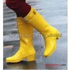 Free Shipping Wholesale Brand rain boots  Hight boot British fashion and elegant high-heeled repair Tall slender legs