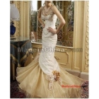 Free Shipping* Customize Luxury  Off-shoulder Fish tail Wedding dress,wedding gown Evening dress W102