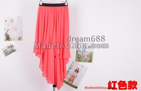 lang kjole chiffong
