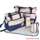 Hot Sale Nappy Bags For  Mummy Package Comfortable Set Of Bags 5Pcs Multi Function  Diaper Bag