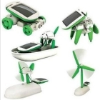 Wholesale - Free Shipping 1 Piece Fashion New 6 in 1 Educational DIY Solar Kit Robotikits Toy Christmas Gift