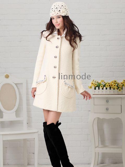 White Wool Coats For Women