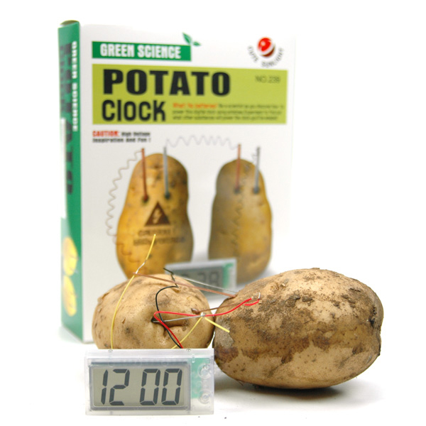 science product potato clock cool clock take  u2013 wholesale free shipping new science product