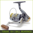 fishing reels 100% brand new 10+1 Ball bearing spinning reel 5.1:1 fishing tackle tools gear TEB200 freeshipping wholesale price