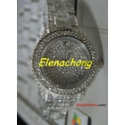 New Style Fashion Plastic watch  watch with diamond with calendar 10pcs/lot+Free shipping