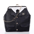 #1381 Amazing Lady's  Suit-like PU leather Shoulder Handbag
