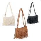 Hot! Fringe Tassel Shoulder Messenger Bag Hand Style Women lady Satchel Free shipping