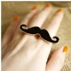 Min.order is $15 (mix order) Fashion Unique Classic Avanti beard two fingers ring,free shipping 1216
