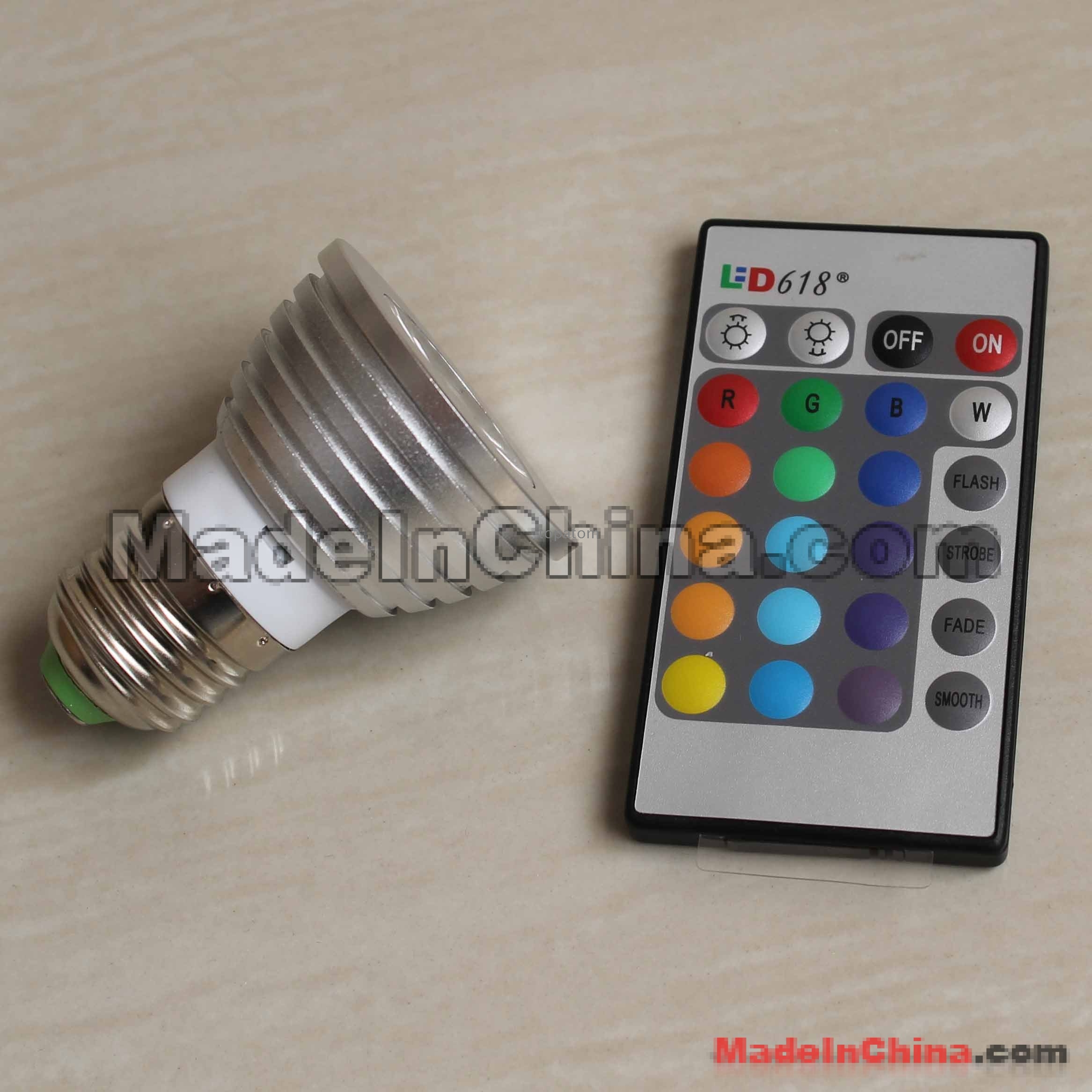 controller – Wholesale 3w e27 RGB led light with remote controller #A87123
