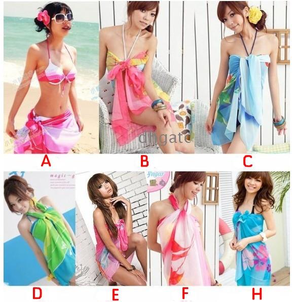 a579d785a0058 ... Swimwear Sexy Pareo Dress Hot Sarong Beach Bikini Cover Up Scarf Wrap  Swim Beach Beautiful Charming ...