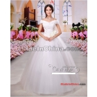 Free shipping Name a wedding dress han edition  is a word to shoulder the new 6076, fall 2011