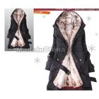 Free Shipping  fur lining women's fur coats winter warm long coat size S-XXX ju-18  Free Shipping Y0749   EMS and  China  post air