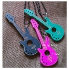 30pcs/lot Wood Candy Stripper Necklaces Guitar Pendant, New Nice Gifts, Whole Hot Sale Free Shipping (NBNLWG)