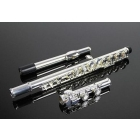 high-grade nickel-plated flute with the E key 16 hole closed