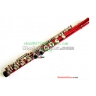 16-hole nickel-plated keys carved obturator E flute (musical instrument