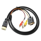 FreeShipping  HDMI to VGA + Composite RCA Audio Video Cable (1.5M-Length)