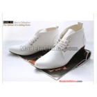 Leisure shoes pointed tide han edition male shoes help with high heat of male leather shoes