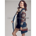 2011 new winter han edition female jacquard loose grow even cap and thick hair cardigan sweater